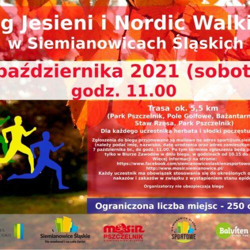 Zapraszamy na Bieg Jesieni oraz Nordic Walking w Siemianowicach Śląskich